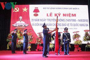 Vùng Cảnh sát Biển 1 đón nhận Huân chương Bảo vệ Tổ Quốc hạng Ba