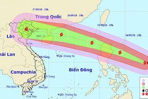 Siêu bão Mangkhut sẽ vào vịnh Bắc Bộ và có thể suy yếu dần