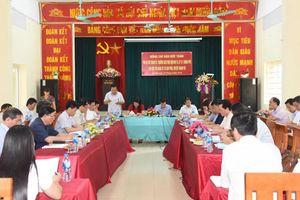 Phó Bí thư Thành ủy Hà Nội Đào Đức Toàn làm việc với Đảng ủy xã Vạn Phúc, huyện Thanh Trì