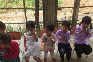 Ly sữa ngọt với trẻ em vùng cao