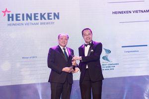 Heineken Việt Nam nhận giải thưởng Nơi làm việc tốt nhất châu Á