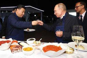 Hình ảnh gần gũi hiếm có của hai nguyên thủ quốc gia Nga và Trung Quốc