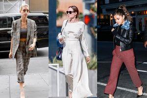 Angelina Jolie, Selena Gomez với street style tươi tắn trên phố