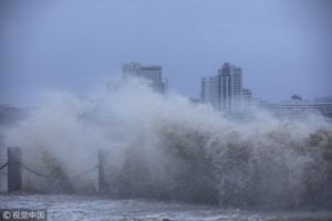 Siêu bão Mangkhut ập vào Trung Quốc