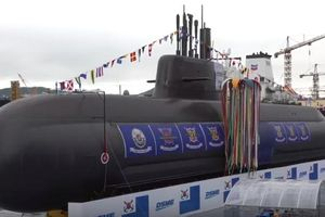 Hàn Quốc hạ thủy tàu ngầm SS-083 với lượng choán nước hơn 3 000 tấn