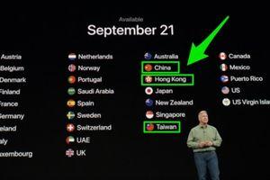 Dân Trung Quốc tức giận vì Apple xem Đài Loan là lãnh thổ riêng biệt