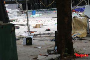 Hình ảnh bên ngoài hiện trường công viên nước Hồ Tây- nơi xảy ra vụ 7 người tử vong trong một Lễ hội âm nhạc
