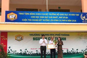Bộ GD&ĐT vinh danh học sinh đạt giải 3 Olympia