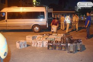 Xử lý tài xế chở rượu lậu chống đối lực lượng CSGT