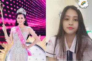 Dân mạng khen Hoa hậu Trần Tiểu Vy: 'Để mặt mộc xinh hơn khi trang điểm'