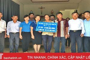 Tổ chức Công đoàn Thạch Hà hỗ trợ 661 triệu đồng cho đoàn viên khó khăn