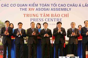 Hình ảnh lễ Khai trương Trung tâm Báo chí và họp báo ASOSAI 14
