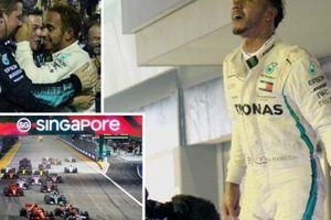 Thắng dễ ở Singapore, Hamilton tạo khoảng cách 40 điểm với Vettel