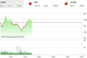 Phiên sáng 17/9: Nhà đầu tư thận trọng, VN-Index 'mắc kẹt' ở ngưỡng 990 điểm