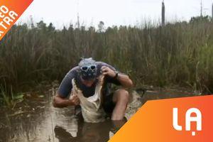 Đang ghi hình, thành viên chương trình thực tế bị cá sấu cắn vào mặt