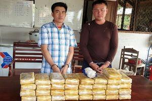 Bắt hai đối tượng vận chuyển 20 vạn viên ma túy tổng hợp