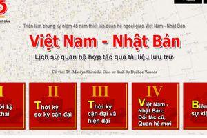 Triển lãm trực tuyến 45 năm thiết lập quan hệ ngoại giao Việt Nam - Nhật Bản