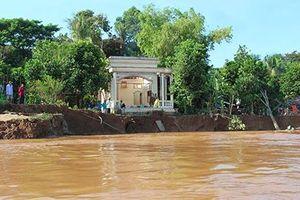 Đồng Tháp: Sạt lở bờ sông tại 20 xã, phường, thị trấn ven sông Tiền, sông Hậu