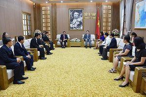 Thứ trưởng Nguyễn Khánh Ngọc tiếp Phó Giám đốc Sở Tư pháp Viêng Chăn