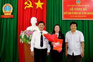 Bổ nhiệm chức vụ Phó Chánh án TAND thành phố Châu Đốc