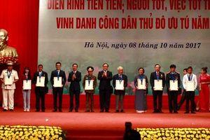 Danh sách 10 cá nhân dự kiến đề nghị xét tặng danh hiệu 'Công dân Thủ đô ưu tú' năm 2018