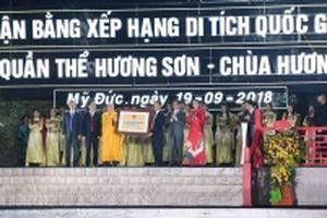 Quần thể danh thắng chùa Hương đón bằng xếp hạng Di tích Quốc gia đặc biệt