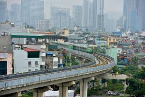 4 đoàn tàu đường sắt Cát Linh-Hà Đông bất ngờ nối đuôi trước ngày chạy thử