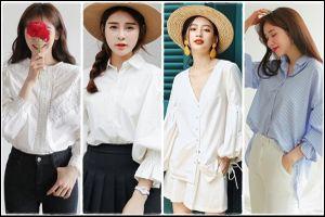 Thời trang Thu 2018: Sơ mi tay phồng cổ điển dành cho các cô nàng công sở