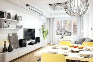 Thiết kế căn hộ 100 m2 hiện đại, tiết kiệm chi phí