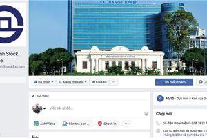 Sở Giao dịch chứng khoán TP.HCM ra mắt trang Facebook