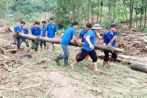 Hàng trăm thanh niên dầm bùn dọn dẹp trường học, nhà dân sau lũ quét