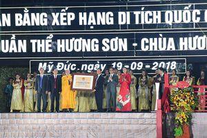 Lễ đón nhận bằng xếp hạng di tích Quốc gia đặc biệt quần thể Hương Sơn - chùa Hương