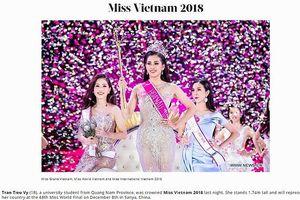 Hoa hậu Trần Tiểu Vy chính thức xuất hiện trên trang chủ Miss World