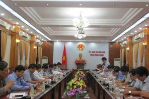 Đoàn công tác Tổng cục Khí tượng thủy văn làm việc với UBND tỉnh Bình Định