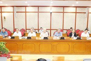 Bộ Chính trị họp cho ý kiến các đề án chuẩn bị trình Hội nghị Trung ương 8