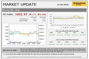 VN-Index kháng cự thành công mốc 1.000 điểm