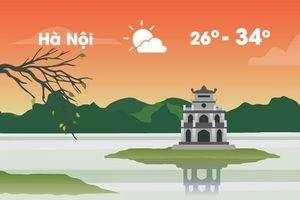 Thời tiết ngày 21/9: Hà Nội nắng nóng 34 độ C, Sài Gòn mưa nhiều