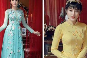 Á hậu Huyền My đẹp ma mị trong bộ áo dài theo phong cách cổ điển