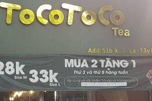 Phạt đóng cửa đại lý bị tố bán trà sữa Tocotoco 'bẩn'