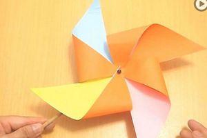 Cách làm chong chóng giấy 4 cánh