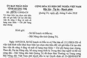 Chủ tịch UBND tỉnh Quảng Trị chỉ đạo hủy cuộc đấu thầu