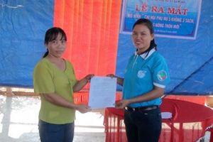 Chi hội phụ nữ '5 không 3 sạch' góp phần xây dựng nông thôn mới