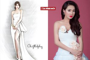 Hé lộ váy cưới lộng lẫy được thiết kế riêng cho Nhã Phương trong ngày trọng đại