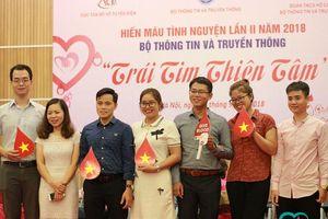 Tuổi trẻ Bộ Thông tin & Truyền thông hưởng ứng lời kêu gọi hiến máu tình nguyện