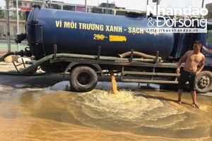 Cư dân KĐT Tân Tây Đô hãi hùng vì nước bể ngầm đầy cặn bẩn, vàng đục