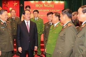 Chủ tịch nước Trần Đại Quang với Công an nhân dân