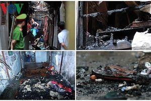 Hiện trường bên trong vụ cháy gần Bệnh viện Nhi Trung ương