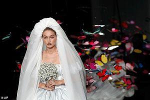 Nàng mẫu 9X Gigi Hadid hóa cô dâu xinh đẹp, kiêu sa trên sàn catwalk