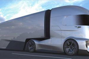 Lộ diện concept xe đầu kéo chạy điện của Ford