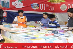 'Hội sách nửa giá' lần đầu tiên tổ chức tại Hà Tĩnh